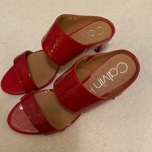New Red Calvin Klein Sandals